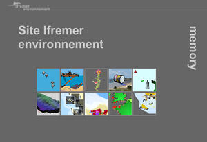 Memory : Le site internet Ifremer environnement