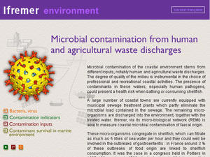 Microbial contamination from human and agricultural waste discharges